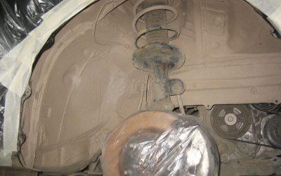 Пример шумоизоляции колесных арок Авто Тех Центр Защита