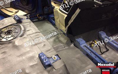 Пример шумоизоляции и антикоррозийной обработки Skoda