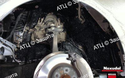 Пример шумоизоляции и антикоррозийной обработки Audi