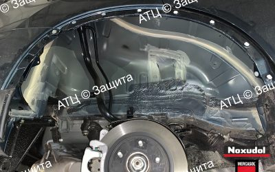 Пример шумоизоляции и антикоррозийной обработки Mitsubishi