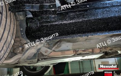 Пример шумоизоляции и антикоррозийной обработки Infiniti