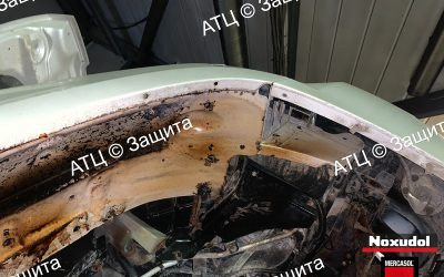 Пример шумоизоляции и антикоррозийной обработки Cadillac