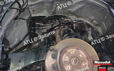 Пример шумоизоляции и антикоррозийной обработки Nissan